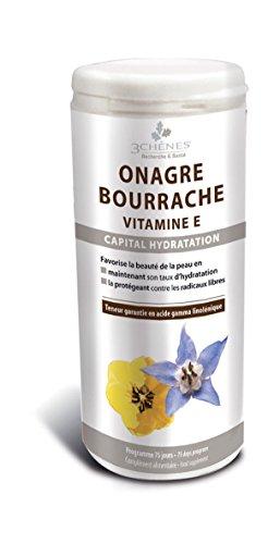 3 Chênes Onagre Bourrache Vitamine E Boîte De 150 Capsules