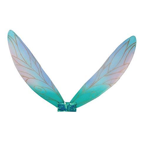 Kostüm Mystische Elfe - Bristol Novelty BA354 Feenflügel, Mädchen blau Einheitsgröße