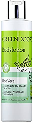 Greendoor Bodylotion Aloe Vera 250ml, Körperlotion in Top Manufaktur-Qualität ohne Silikon, ohne Parabene, vegan, Körpermilch ideal bei trockener Haut, Body Lotion, Greendoor (Aloe Vera Bodylotion)