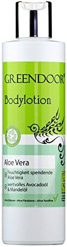 Greendoor Bodylotion Aloe Vera 250ml, Körperlotion in Top Manufaktur-Qualität ohne Silikon, ohne Parabene, vegan, Körpermilch ideal bei trockener Haut, Body Lotion, Greendoor Premiumversand