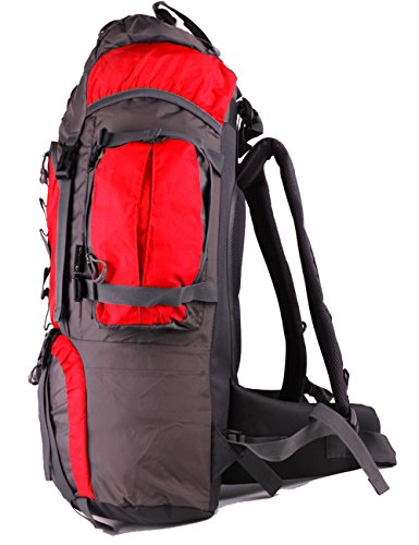 Belvie 601 Wanderrucksäcke Trekkingrucksäcke 60l Rot