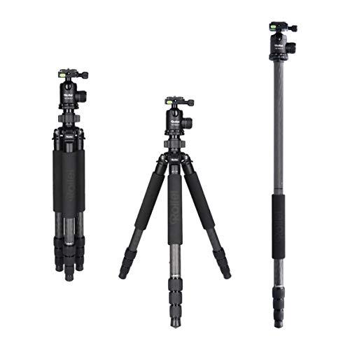 Rollei Rock Solid Gamma Mark II Carbon Stativ - Kamera Stativ mit 20 KG Tragkraft und Kugelkopf T3S, ideal für Reise und Naturfotografie - geeignet für Spiegelreflex-(DSLR) u. Systemkameras (DSLM)