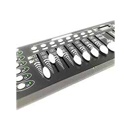 – Senza marca/Generico – CENTRALINA DMX Mixer Controller LUCI Disco Effetti DJ 192 CANALI DMX 512
