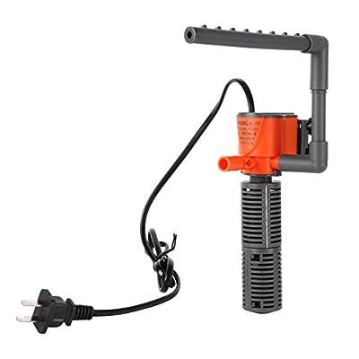 Kiao 3 en 1 Mini Pompe à Eau Pompe de Circulation L'intérieur a Filtre Pompe à Oxygène Pour Le Petit Bocal à Poissons