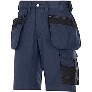 Snickers 30239504060 Rip-Stop artisan shorts with holster pouch size 60 navy blue
