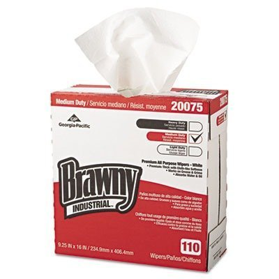 brawny-industrial-gep20075-tall-dispenser-all-purpose-drc-wipers-9-1-4-x-16-white-110-box-10-carton-