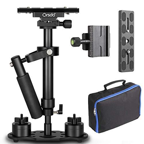 """Orsda Kamera stabilisator Handy pro schwebestativ Gimbal DSLR steadycam Handstabilisator mit 1/4 3/8""""Schraube Quick Plate für Canon Nikon Sony und andere Digitale SLR-Kameras Video DV bis 3 kg Blauer"""