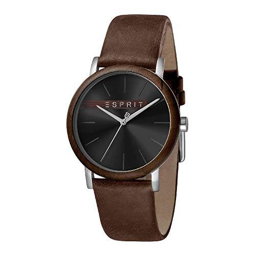 Esprit ES1G030L0025 Plywood Black Brown Montre pour Homme