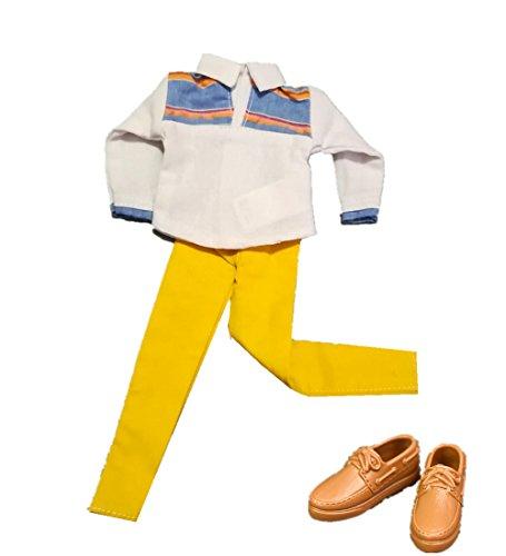 Stillshine T-Shirt mit Hosen Puppenkleidung Schuhe Für 28cm-33cm Barbie Ken Puppe Bekleidung Schuhe (B 1 Bekleidung+ 1 Schuhe) - Barbie-party Ken