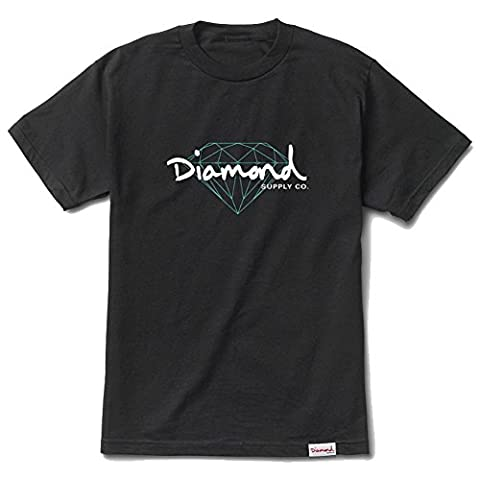 Diamond Supply Co. Men's Brilliant Script SS T Shirt Black