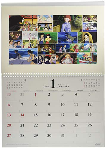 ensky Studio Ghibli Art Frame Try-X Wall Calendar Offizielle Wandkalender Anime 2019 [Japan Import]