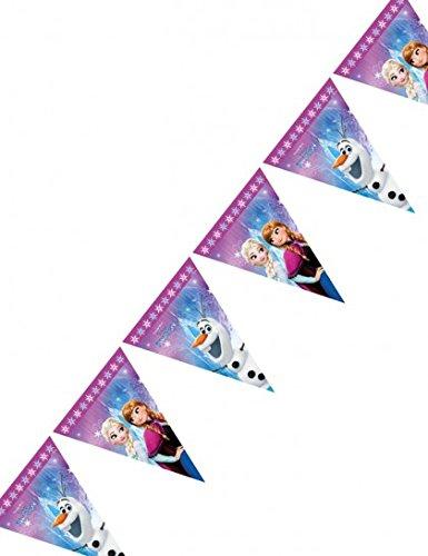Procos 86921Filare Wimpelkette Disney Frozen Northern Lights, mehrfar (Disney Olaf Aus Kunststoff Tischdecke)