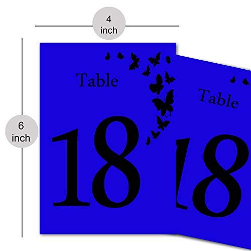 Designer Kalligraphie Papier Tischnummer Hochzeit Gast Name & Nummer Tischkarte Diy Tischdekoration-Royal Blau (Blau Royal Tischdekoration)