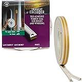 Zugluftstopper Classic aus Gummi mit P-Profil für 3 bis 5 mm Lücken, 6 m, weiß