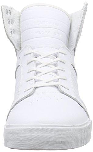 Erwachsene Top WHITE WHITE RED WHITE Unisex High Skytop WWR Weiß Supra fZPwq6x