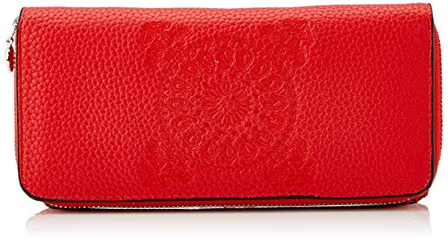Desigual Damen Wallet Soft Bandana Maria Geldbörse, Rot (Rojo Fuerte), 9.5x3x20.2 cm