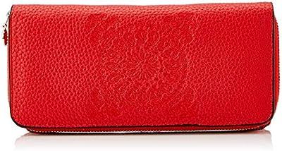 Desigual Wallet Soft Bandana Maria, Monedero Alargado para Mujer, Rojo (Rojo Fuerte),