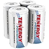 4 Pcs Of Tenergy Premium C Size 5000mAh High Capacity High Rate NiMH Rechargeable Batteries