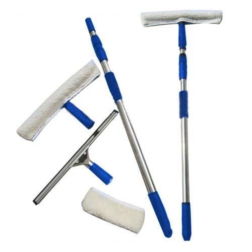 Fenster Reinigung Waschen Kit Ausrüstung mit Pole & wasserschiebern groß Reiniger reinigen -