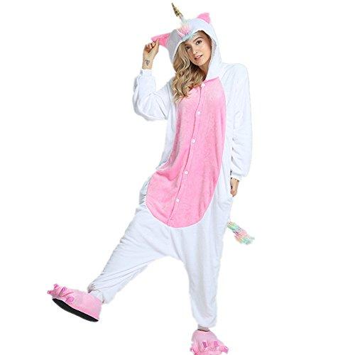 jamas Kostüm Jumpsuit Tier Schlafanzug Erwachsene Schlafanzug Unisex Cosplay (Mane Unicorn, M) ()