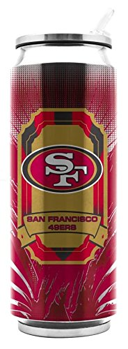 Duck House NFL San Francisco 49ers Edelstahl thermocan 16,9oz-Thermo Können Behälter Travel Tumbler Drink -