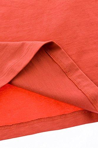 GINA LAURA Große Größen Damenbis Größe 3XL | Tank-Top | einfarbig Basic | elastisch mit breite Träger | kurz, Ärmellos & Rundhals | 100976 Kürbis