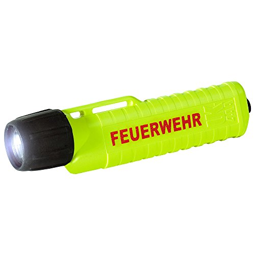 UK Lights Helmlampe 4AA ET Xenon, Heckschalter, mit Aufdruck, Feuerwehr, neongelb 14321F