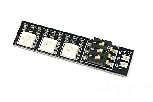 Usmile Switchable 7 Colors RGB 5050 5V LED Board for ZMR250 QAV250 250 280 mini quad RC FPV Quadcopter(2pcs)
