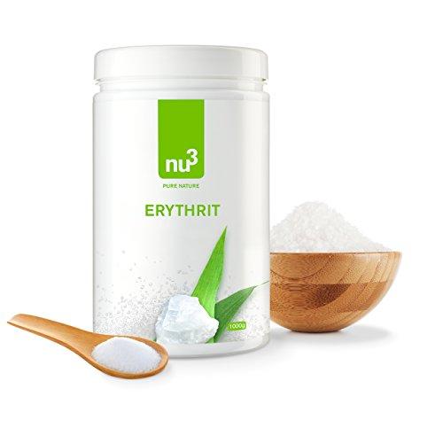 nu3 – Eritritol 1kg | Sustituto de azúcar | edulcorante sin caloría y sin impacto sobre el índice de glicemia | Polivalente | ideal para cocinar y repostería