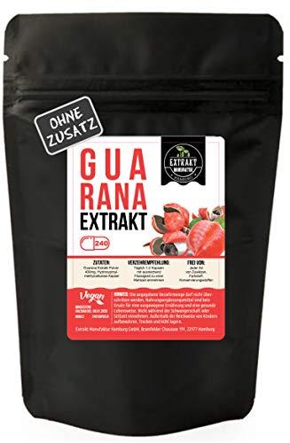 Guarana Samen Extrakt | 240 KAPSELN 400mg hochdosiertes 10:1 Extrakt | frei von Zusatzstoffen | ohne Füll- & Fließmittel | laborgeprüft | 100% vegan & in Deutschland hergestellt. (240 Kapseln)