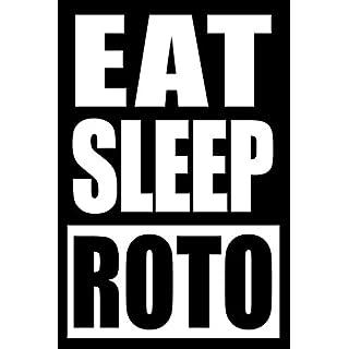 Eat Sleep ROTO | Gift Notebook for Fantasy Sports Fan, Blank Lined Journal: Medium Spacing Between Lines
