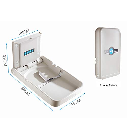 QZ® Baby Changing Station Wall Mount for Nursery Restroom, Folding Infant Dresser, White Granite (Size : Style-1)  qiangzi