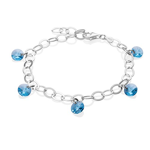 LillyMarie Ladies Silver Bracelet Silver 925 Swarovski Elements dream catcher pendant gift Box Birthday gift ladies e1Qzdf