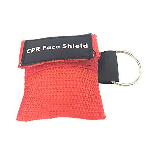 Demarkt CPR Masken 1 Stücke CPR Maske schlüsselanhänger RESPI-Key Beatmungsmaske, Rote