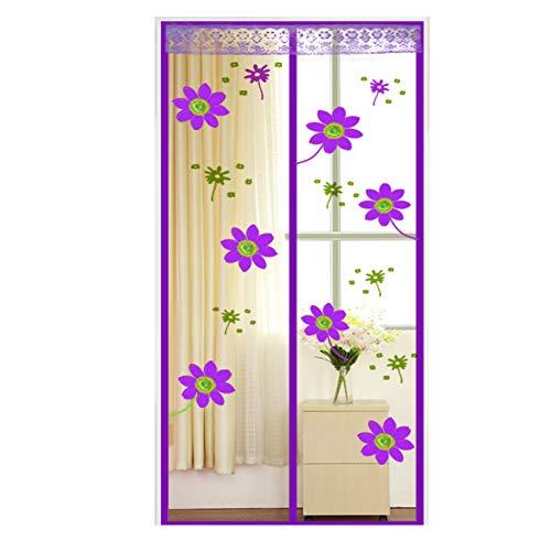 Nouveau Floral Imprimé Magnétique Maille Porte écran Fly rideau pour Fly Bugs Out