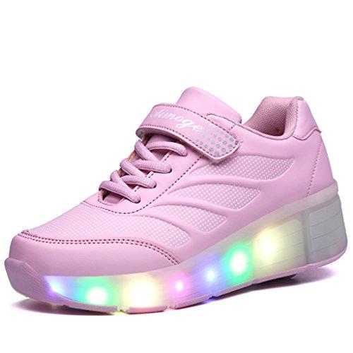 SGoodshoes Led Schuhe mit Rollen Skateboard Led Leuchtende