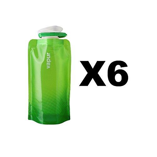 vapur-shades-18oz-water-bottle-green-flexible-flask-anti-bottle-05l-6-pack
