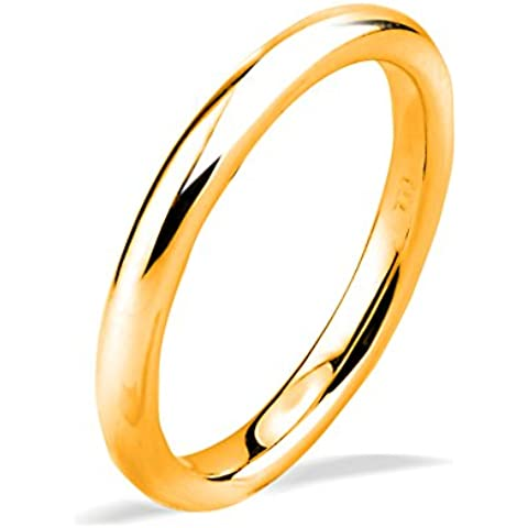 14ct oro Amarillo En forma de Banda Anillo de , 2,58 gramos,