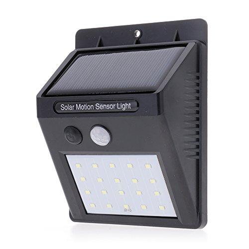 20 LED solaire alimenté léger corps humain Induction mur extérieur lampe veilleuse