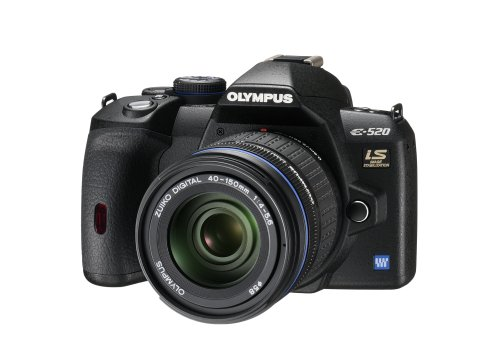 Olympus E-520 SLR-Digitalkamera (10 Megapixel, LifeView, Bildstabilisator) Kit inkl. 14-42mm & 40-150mm Objektive - 6