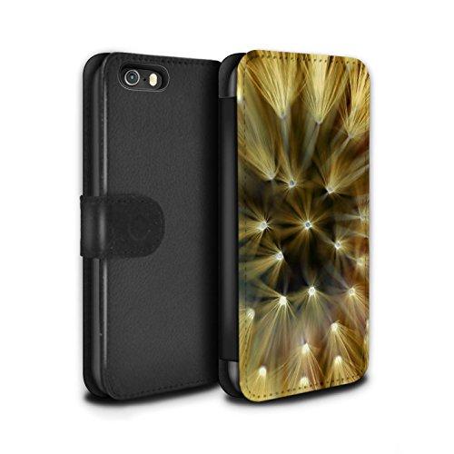 Stuff4 Coque/Etui/Housse Cuir PU Case/Cover pour Apple iPhone 5/5S / Jaune Design / Couleur/Lumière Fleur Collection Jaune