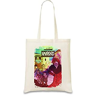 Amarcord Poster Custom Printed Tote Bag| 100% Soft Cotton| Natural Color & Eco-Friendly| Unique, Re-Usable & Stylish Handbag For Every Day Use| Custom Shoulder Bags By Design Things