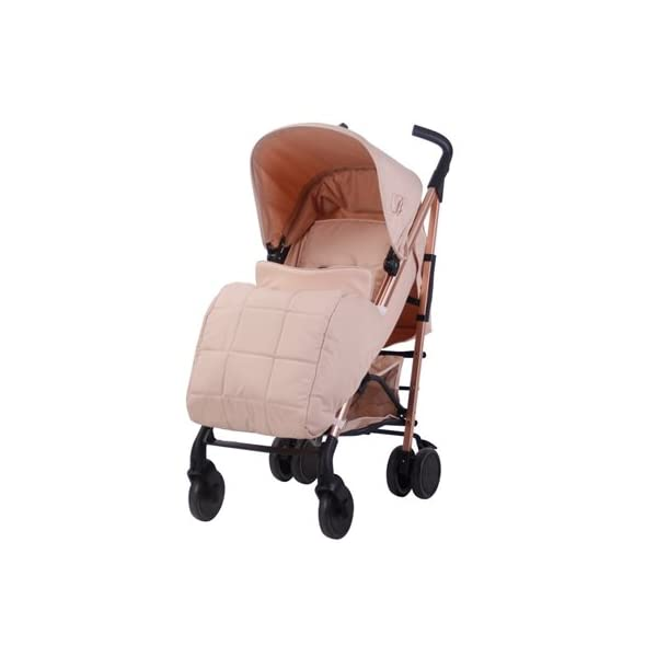My Babiie Billie Faiers MB51 Rose Blush Stroller  Suitable from birth to maximum 15kg Extendable 3 position canopy Lockable swivel front wheels 1