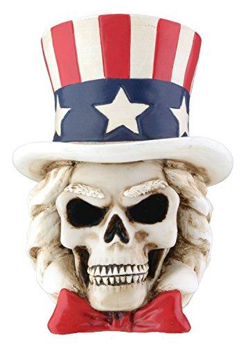 Uncle Sam Skelett Kopf Collectible Figur Totenschädel