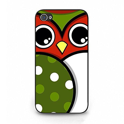 Lovely Fresh Owl Wallpaper Phone Case Cover Solid Skin Protetive Shell for Iphone 4/4s Owl Premium Color112d