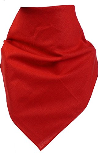 Harrys-Collection Unisex Bandana Bindetuch 100% Baumwolle (1 er 6 er oder 12 er Pack), Farbe:uni rot