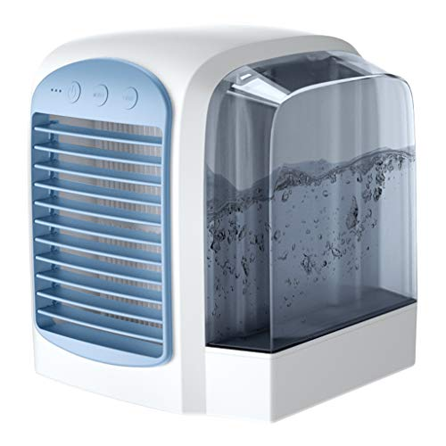 ditioners, Mini Air Coolers, 3 in 1 Air Conditioner, Humidifier and Air Purifier, USB Mini Air Cooler with Water Tank and 3 Power Levels for Home and Office (Blau) ()