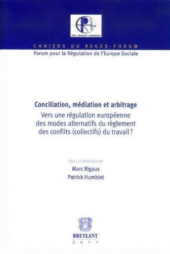 Conciliation, médiation et arbitrage