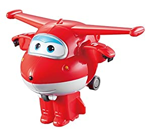 Super Wings- Tramsform YW710010 Mini Transform a Bots Jett Plane, Color Rojo (AuldeyToys