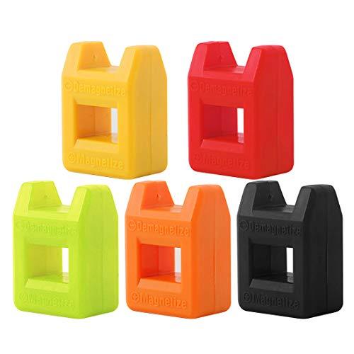 Luwu-Store Schraubendreher Magnetisierer Mini Magnetiseur Entmagnetisierer Werkzeug Schraubendreher Edelstahl Magnetisierer 2 in 1